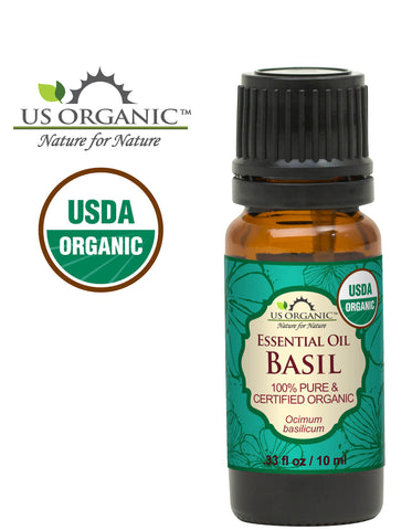 100% Pure Certified USDA Organic - Basil Essential Oil