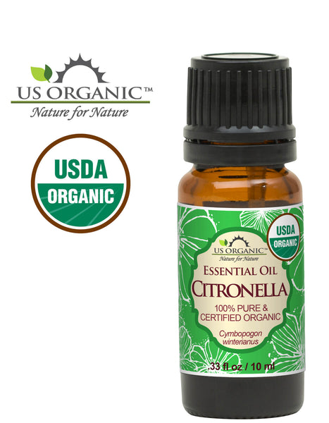 100% Pure Certified USDA Organic - Citronella Essential Oil