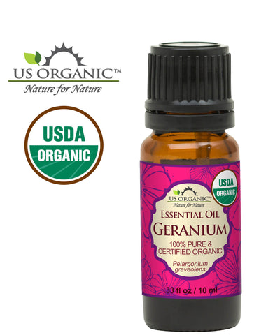 100% Pure Certified USDA Organic - Geranium Essential Oil