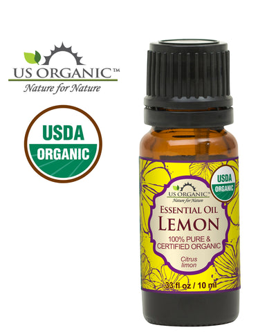 100% Pure Certified USDA Organic - Lemon Essential Oil
