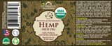 100% Pure Certified USDA Organic - Hemp Seed Oil 2 oz