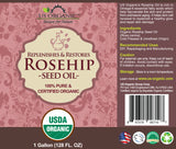 100% Pure Certified USDA Organic - Rosehip Oil 128 oz (1 Gallon)