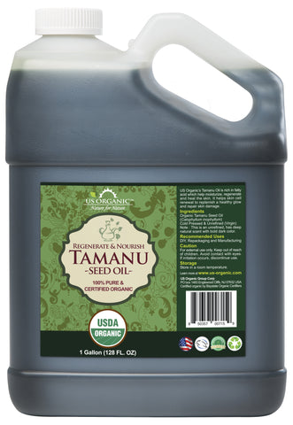 100% Pure Certified USDA Organic - Tamanu Oil 128 oz (1 Gallon)