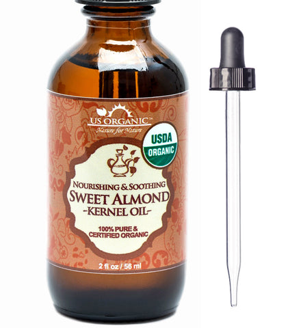 100% Pure Certified USDA Organic - Sweet Almond Kernel Oil 2 oz