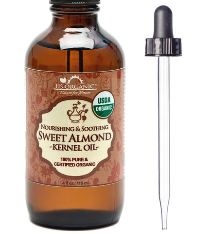 100% Pure Certified USDA Organic - Sweet Almond Kernel Oil 4 oz