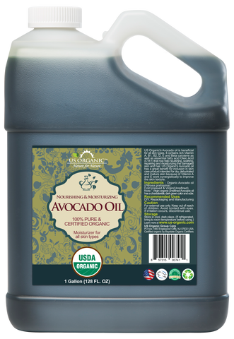 100% Pure Certified USDA Organic - Avocado Oil 128 oz (1 Gallon)
