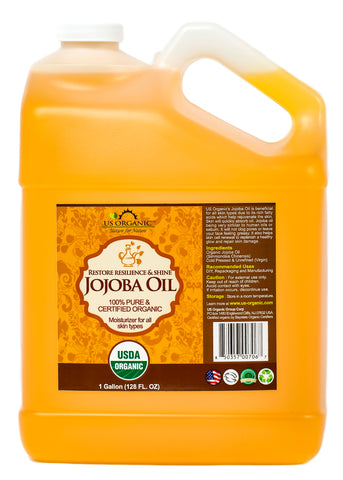 100% Pure Certified USDA Organic - Jojoba Oil 128 oz (1 Gallon)