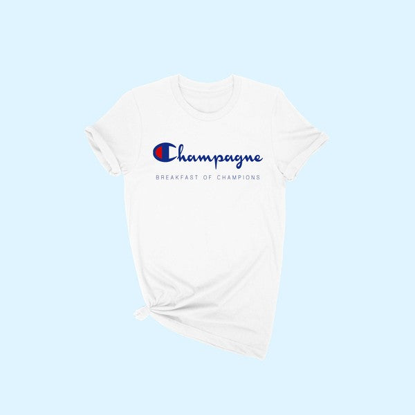 'Champagne for Breakfast' Tee