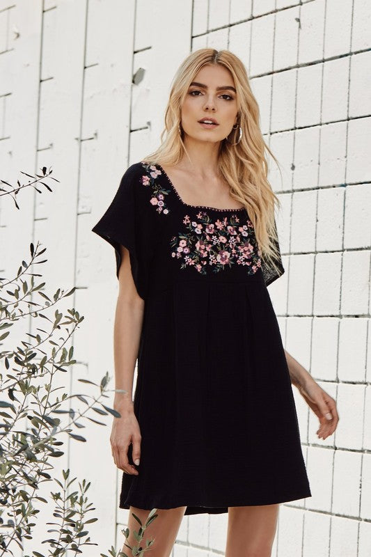 'Carolina' Embroidered Dress