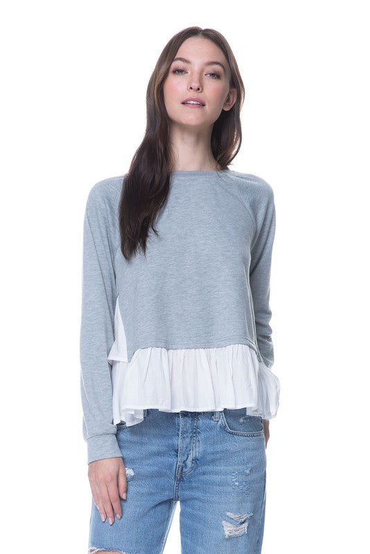 'Rockie' Two Tone Layered Top