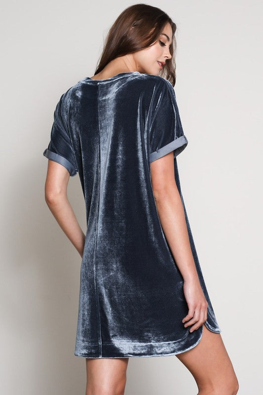 'Midnight Ryder' Velvet Shift Dress