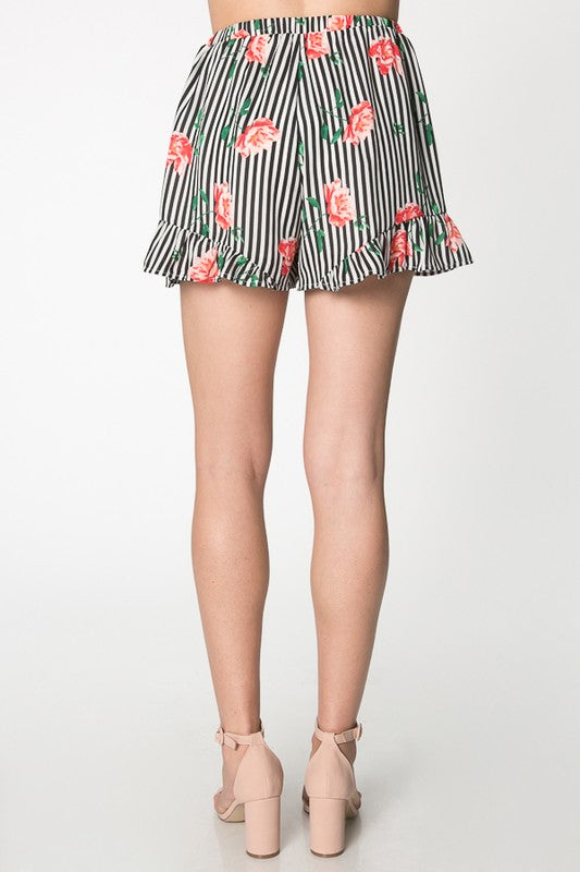 'No Roses in the Wild' Ruffle Shorts