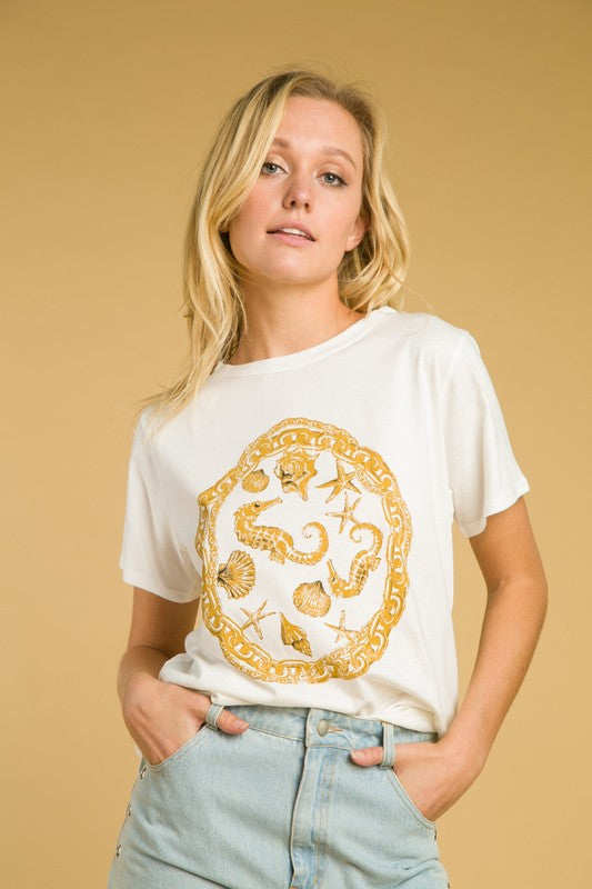 'Versace at the Sea' Graphic Tee