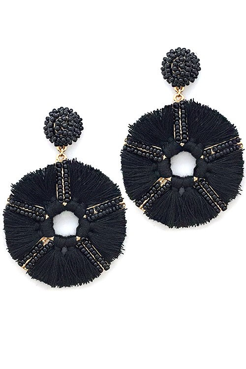 'Right Round' Fringe Earrings