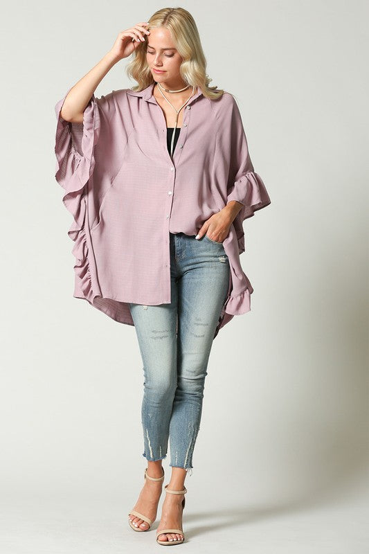 'Love Fool' Ruffle Tunic