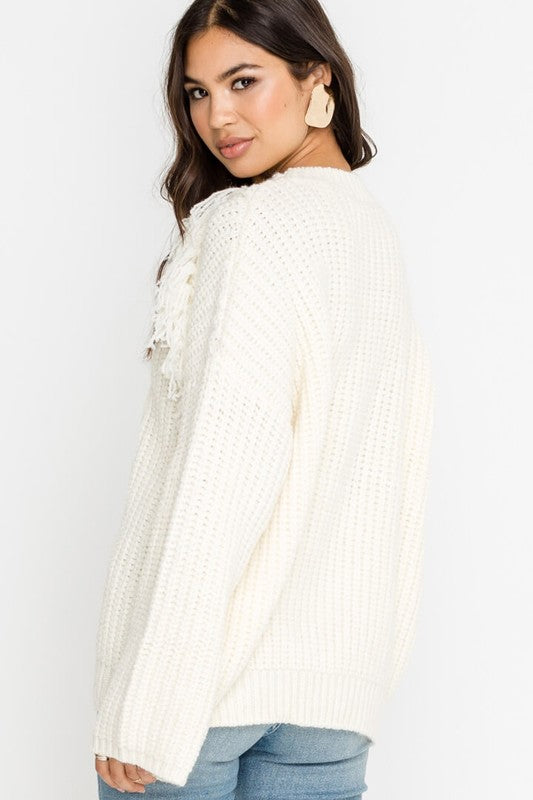 'Keeping Up With Fringe' Sweater