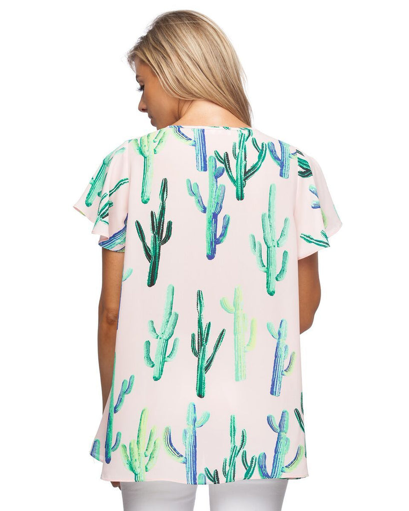 'Avril' Electric Cactus Blouse