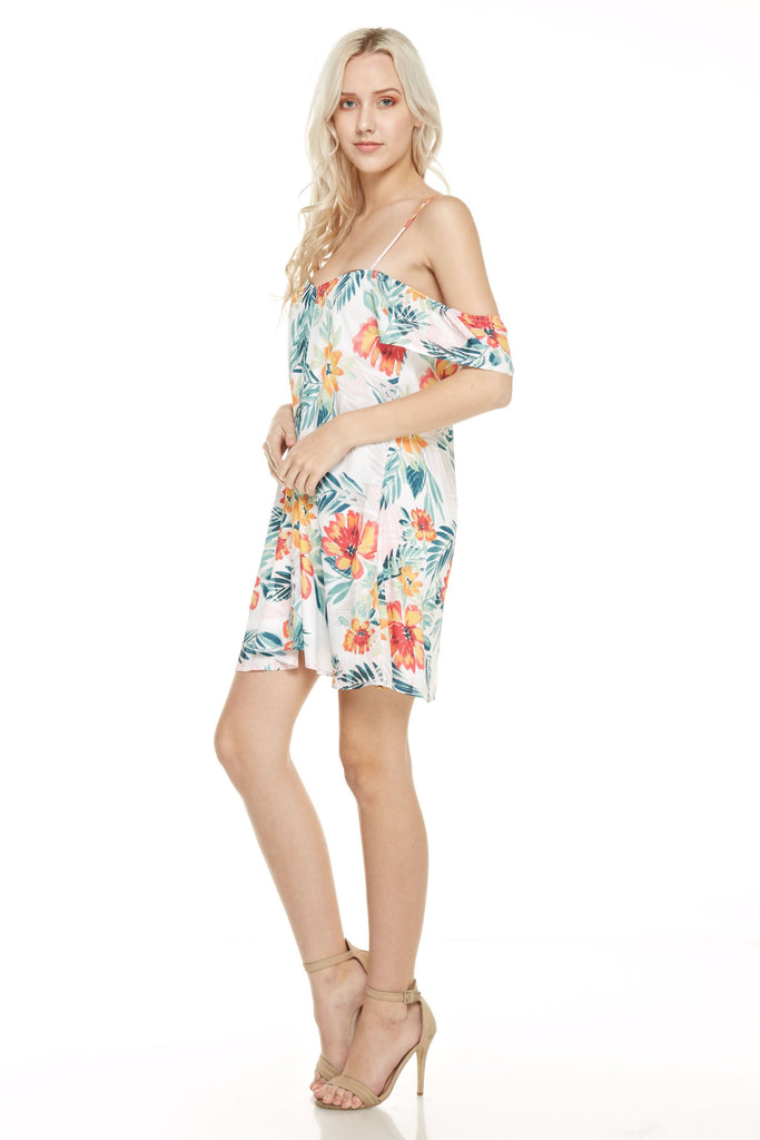 'Caribbean Getaway' Cold Shoulder Dress
