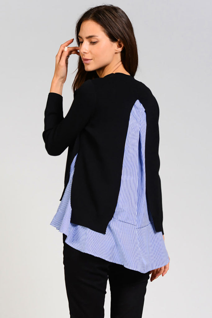 'Blair' Double Layered Knit Sweater