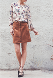 'Milly' Suede Skirt