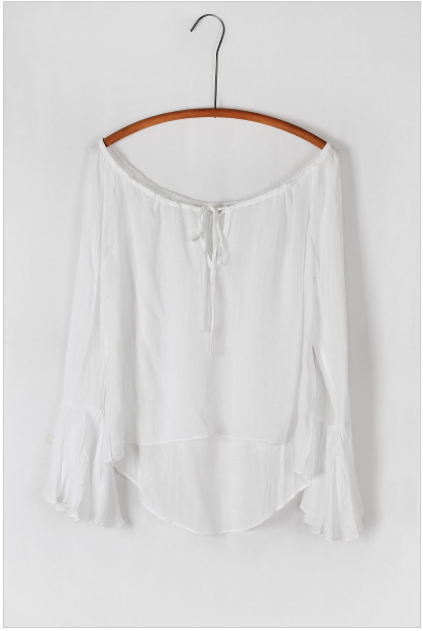 'Jojo' OTS Hi-Low Belle Sleeve Top