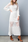 'Darling Meadow' Delicate Lace Maxi