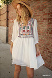 'Hermosa' Embroidered Dress