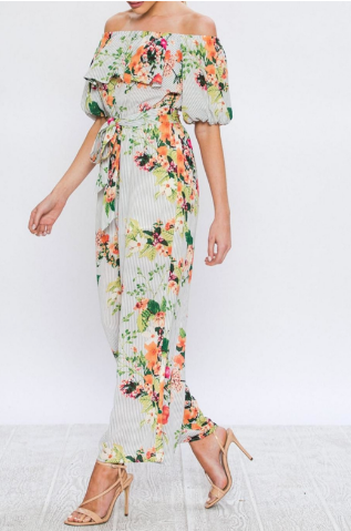 'Magnolia May' Floral Jumpsuit
