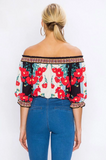 'Let's Talk Florals' OTS Top