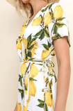 'I'm Not Sorry' Lemon Wrap Dress