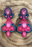 'Camilla' Embroidered Soutache Earrings