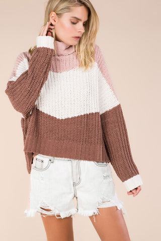 'All of Me' Heart Knit Sweater-Pink
