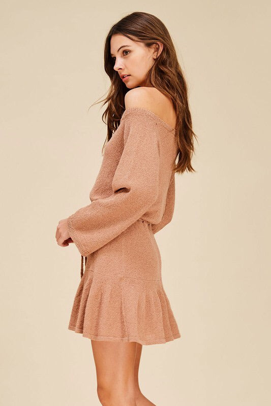 'For the Frill of It' OTS Sweater Dress