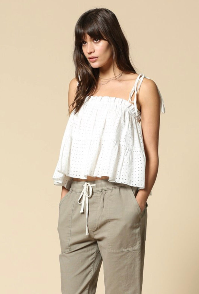 'Golden Hour' Eyelet Top