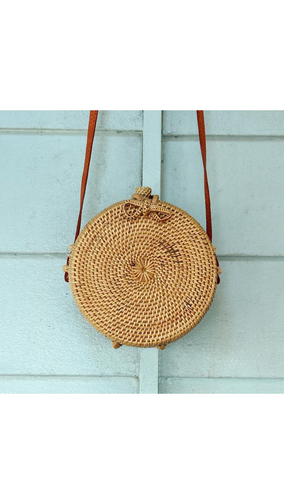 'Alessandra' Small Rattan Crossbody