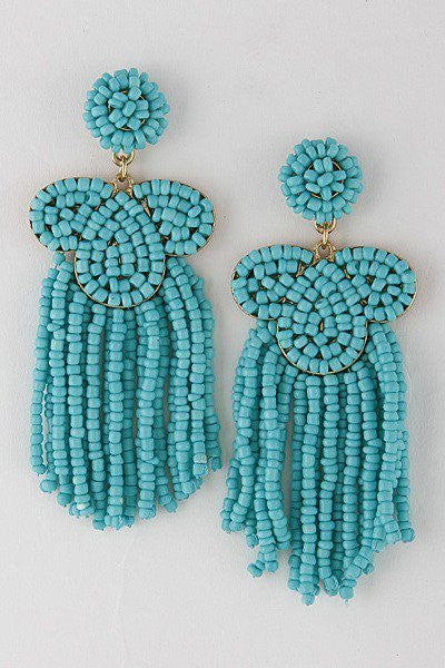 'Daphne' Tassel Earrings - Turquoise