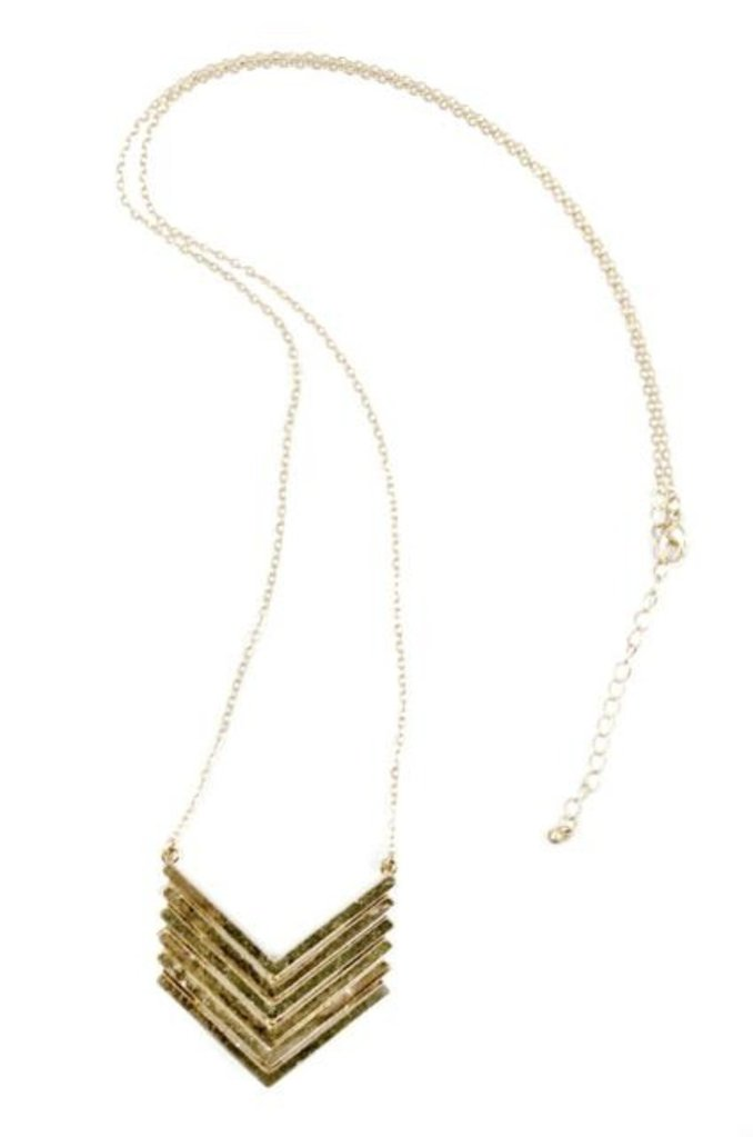 'Harlow' Chevron Necklace