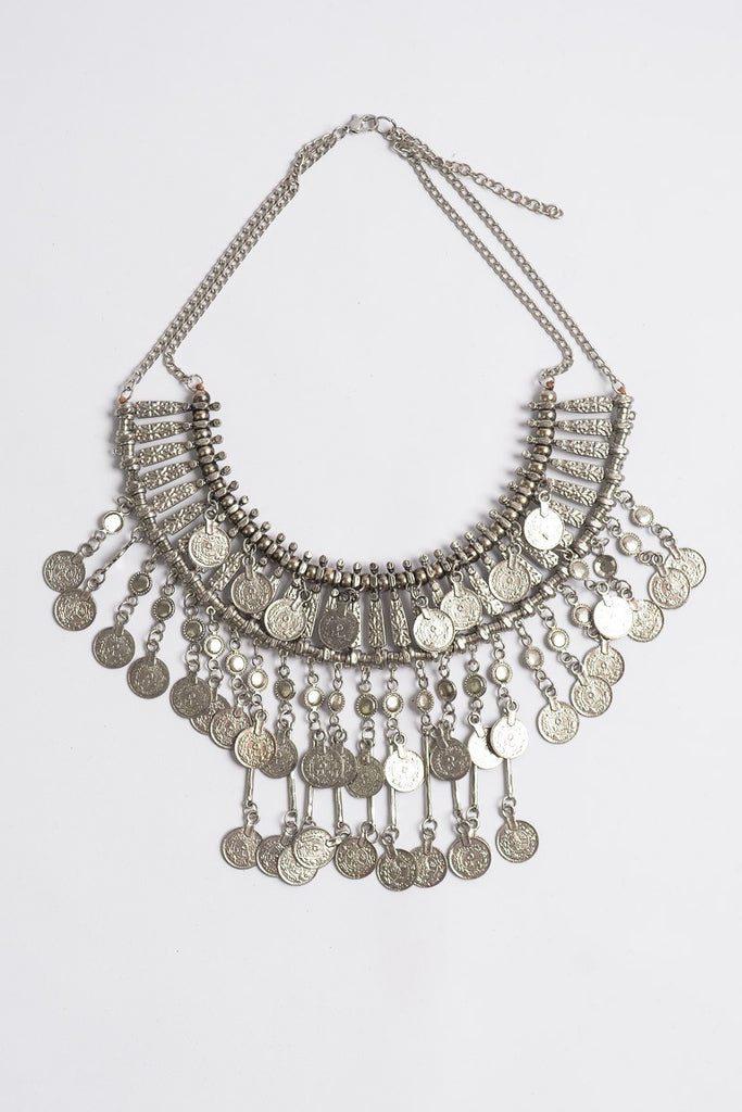 'Frida' Statement Coin Bib Necklace