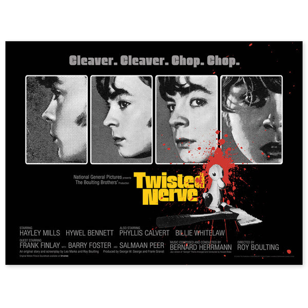 "TWISTED NERVE - 30""x40"" QUAD POSTER  (BLACK)"