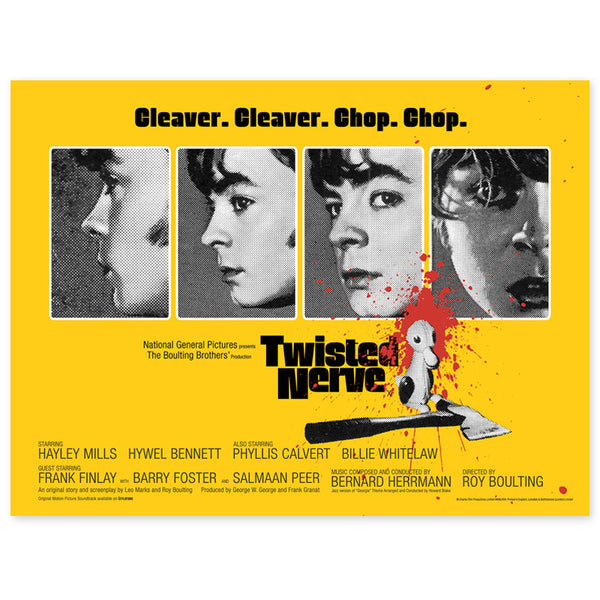 "TWISTED NERVE - 30""x40"" QUAD POSTER  (YELLOW)"