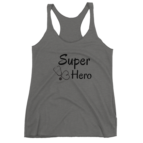 "Women's Racerback Tank by JETT IMPRESSIONS ""Super Hero"" Tank Top"