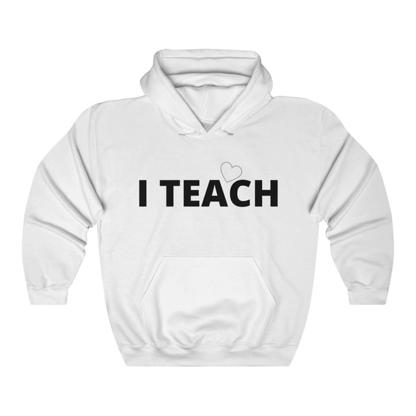 "Hoodie by JETT IMPRESSIONS ""I Teach"" Sweatshirt Hoodie for Teachers Women or Men"