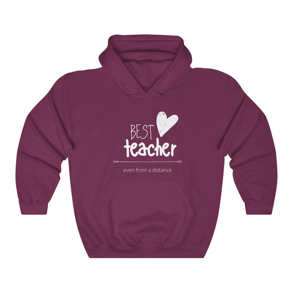 "Hoodie by JETT IMPRESSIONS ""Best Distance Teacher"" Shirt for Virtual Teachers"