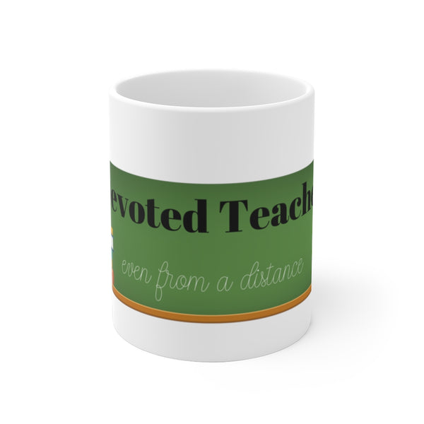"Mug by JETT IMPRESSIONS ""Devoted Teacher"" Coffee Mug for Distance Teacher"