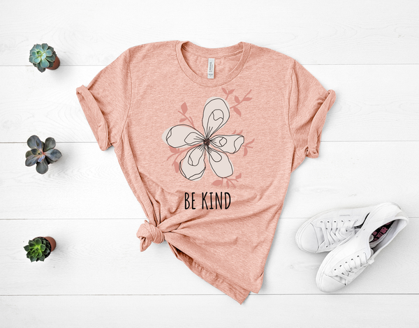 "T shirt by JETT IMPRESSIONS ""Be Kind"" Magnolia Short Sleeve Womens Tshirt"