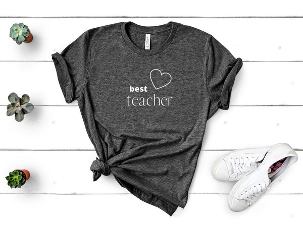 "T shirt by JETT IMPRESSIONS ""Best Teacher"" Teacher T shirts for Women or Men"