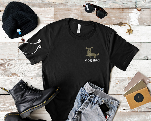 """Dog Dad"" T-shirt Artwork designed by Kathy Morawiec"
