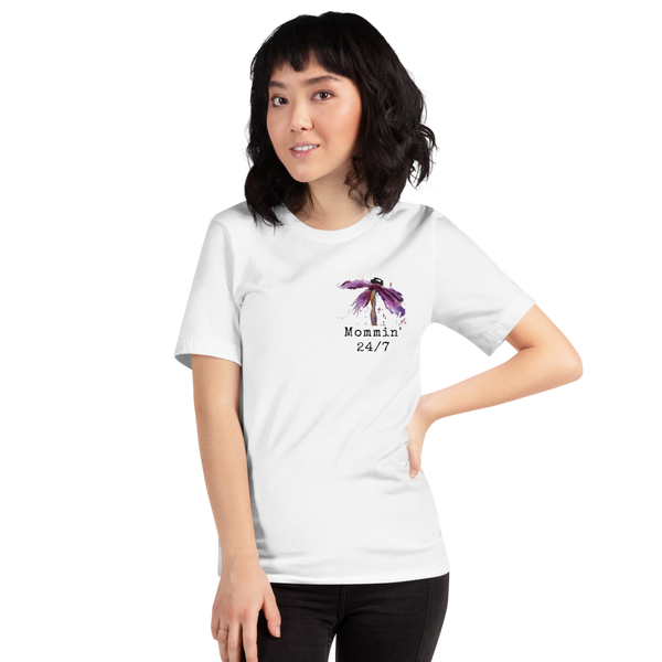 "T shirt by JETT IMPRESSIONS ""Mommin' 24/7"" Womens Short Sleeve Inspiring T-Shirt Artwork by Kathy Morawiec"