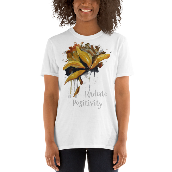 "T-shirt ""Radiate Positivity"" Artwork designed by Kathy Morawiec"