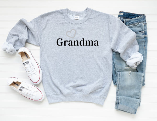 "Sweatshirt by JETT IMPRESSIONS ""Grandma"" Sweatshirt Gift for Grandma or Nana"